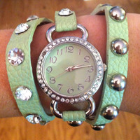 Mint Wrap Watch by 21mainstreet on Etsy