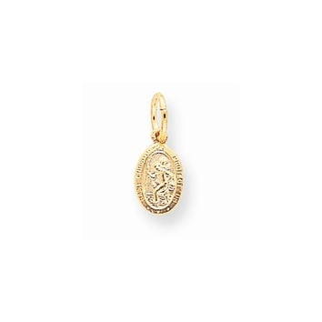 Solid 10k Yellow Gold St. Christopher Pendant