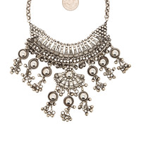 Child of Wild Moon Dweller Indian Necklace in Silver