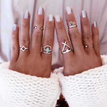 TAOS, NEW MEXICO  Inspired 6 Pack Ring Set