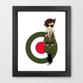 Cool Sixties Mod Illustration Framed Art Print by markmurphycreative
