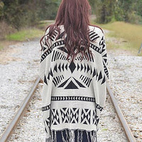 Geometrical Pattern Cardigan