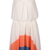**Rainbow Hem Dress by Love - Clothing - Topshop