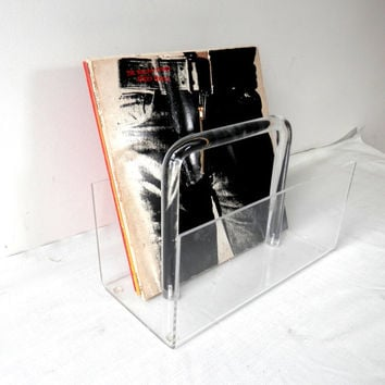 Vintage Lucite Magazine Rack Hollywood Regency Home Decor