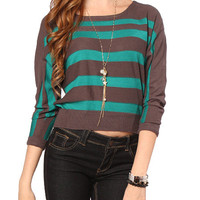 Papaya Clothing Online :: STRIPE DOLMAN SLEEVE SWEATER