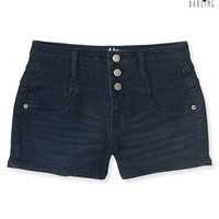Aeropostale  Tokyo Darling High-Waisted Dark Wash Denim Shorty Shorts