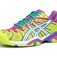 Asics Gel Resolution 4 Yellow/Violet Women's Shoe
