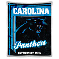 Carolina Panthers NFL Mink Sherpa Throw (50in x 60in)