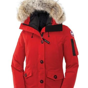 Canada goose winter WOMEN montebello Down jacket/red