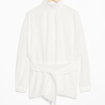 Cotton Blouse - White - Blouses - & Other Stories US