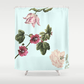 Valentine bouquet Shower Curtain by Anipani
