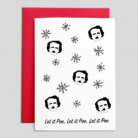 Let it Poe Christmas card
