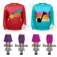 Preorder Mabel Pines Gravity Falls Cosplay Sweater Sweatshirt w/ Skirt Options - Bunni Designs  [6-8 Week Processing Time, MADE TO ORDER]