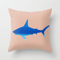 Shark Throw Pillow by ProfileDesign
