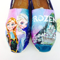 Customized Frozen Elsa & Anna Disney Toms
