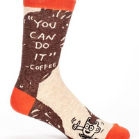 You Can Do It – Coffee Men's Socks