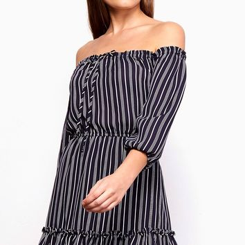 Women's BB Dakota Mckenna Striped Dress