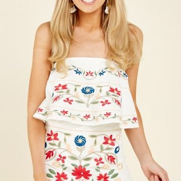 Aura Last Request White Embroidered Dress