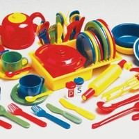 Childcraft Deluxe Kitchen Play Set - 71 Pieces - Assorted Colors