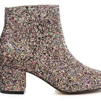 Solange Colorful Glitter Ankle Bootie