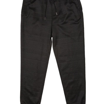 Black Textured Stripe Jogger