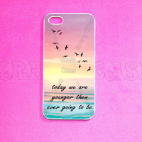 iPhone 5 Case, Young quote iPhone 5 Case for iPhone 5, iphone case