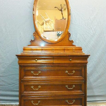 DRESSER with VALET MIRROR Vintage French Provincial Dresser by Lexington French Quarter Collection Chez Michelle
