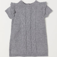 Cable-knit Dress - Gray melange - Kids | H&M US