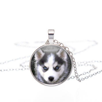 A Winning 3D Husky Pendant Necklace