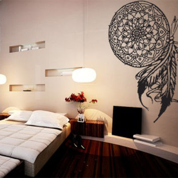 Dream Catcher Wall Decal Sticker Wall Art Room Decor Native American Nature  Indian Tribal