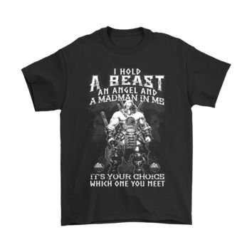 ESBCV3 I Hold A Beast An Angel And A Madman In Me Viking Shirts