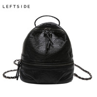 LEFTSIDE 2017 New Women's Leather Backpack children backpacks mini back pack backpacks for teenage girls Beautiful New Style