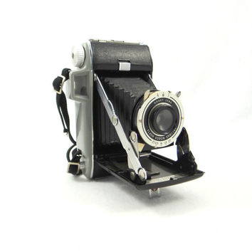 Vintage Kodak Tourist Folding Camera with Manual and Box from the 1940s