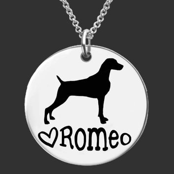 Weimaraner Personalized Necklace