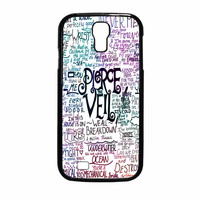 Pierce The Veil Band Lyric Rainbow Samsung Galaxy S4 Case