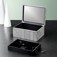 clasp black and white jewelry box