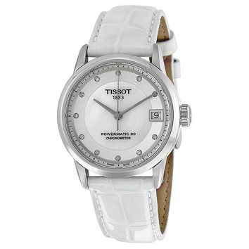 Tissot Powermatic 80 Mother of Pearl Dial Ladies Watch T0862081611600