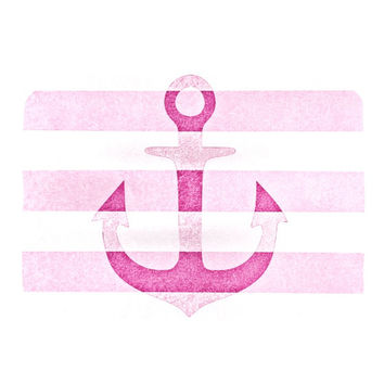 "Monika Strigel ""Stone Vintage Pink Anchor"" Place Mat"