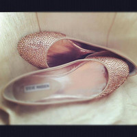 Champagne wedding shoes, ballet flats, wedding flats