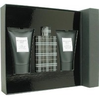 Burberry Brit By Burberry For Men. Gift Set ( Eau De Toilette Spray 3.3 Oz + Aftershave Balm 3.3 Oz + Shower Gel 3.3 Oz).