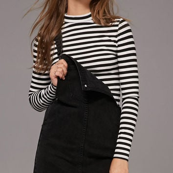Stripe Mock-Neck Top