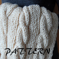 KNITTING PATTERN: cable knit baby's blanket
