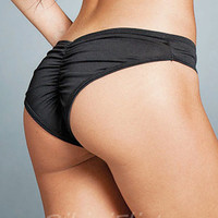 Black Scrunch Brazilian Bikini Bottom