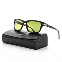 Persol PO3074S Sunglasses Film Noir Edition 95/P1 Black, Green Polarized 55 mm