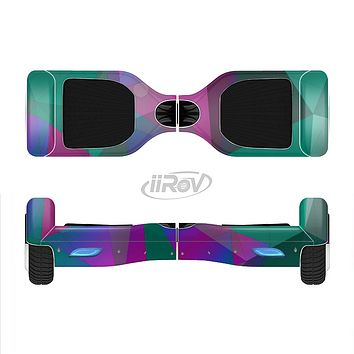 The Raised Colorful Geometric Pattern V6 Full-Body Skin Set for the Smart Drifting SuperCharged iiRov HoverBoard