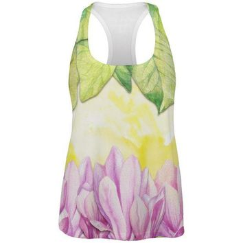 ICIK8UT Mardi Gras French Quarter Magnolias at Sunrise All Over Womens Work Out Tank Top