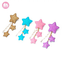 6%DOKIDOKI Shooting Star Clip & Brooch (Sugar)