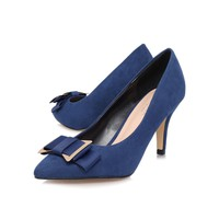 KENDRA Navy Mid Heel Court Shoes by Carvela Kurt Geiger | Shoeaholics