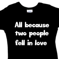 All Because Two People Fell In Love /// 3 Snap Creeper // Boy Girl Unisex // Multi Colors Available