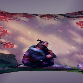 "Disney Mulan and Father Custom Pillow Case 16""x24"" Limited Edition"